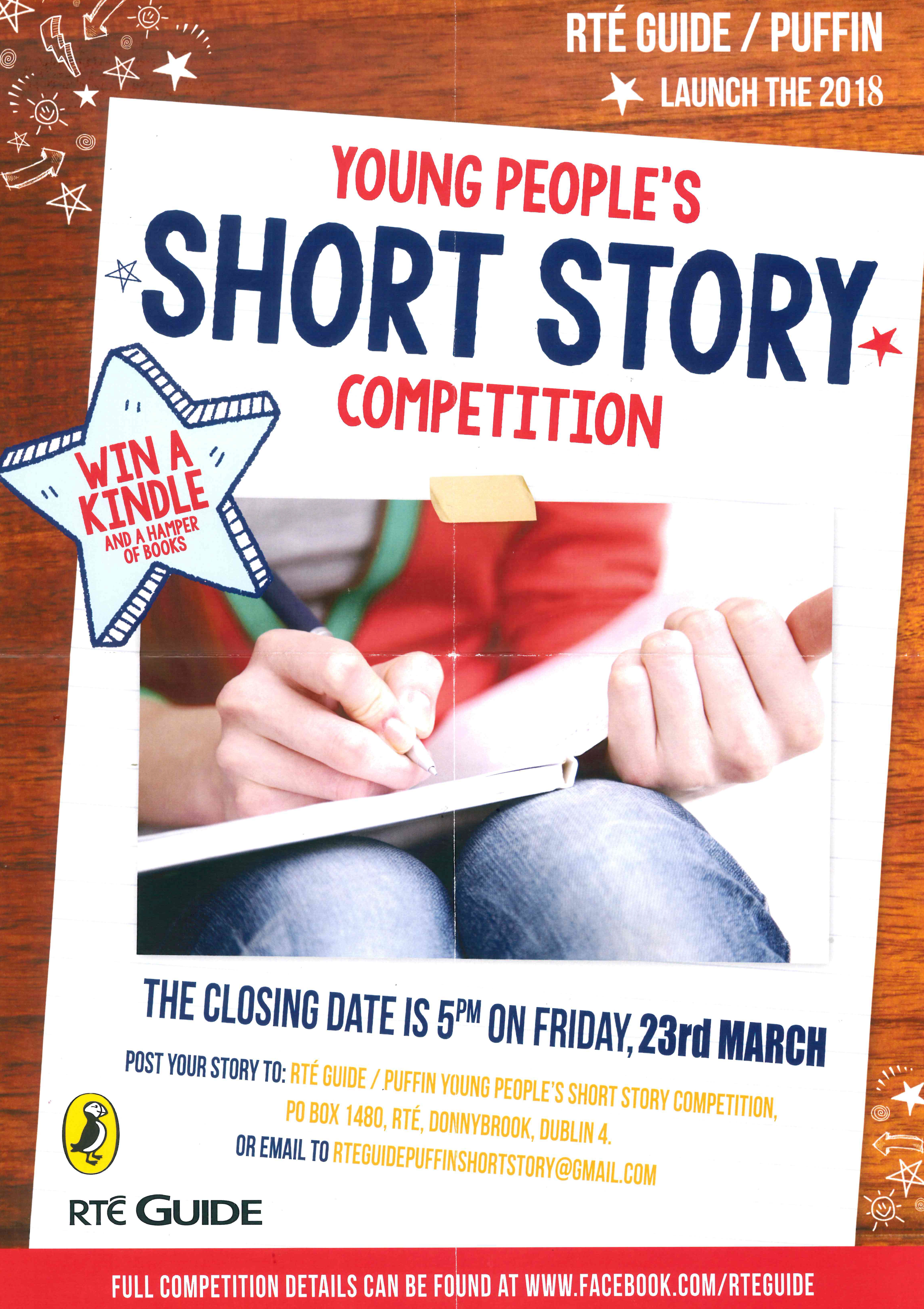 short story writing competitions The moth short story prize is an important date on the literary calendar every year, a single judge is asked to choose three winning stories to feature in the autumn issue of the moth previous judges include john boyne, donal ryan, belinda mckeon and mike mccormack this year's judge is kevin .