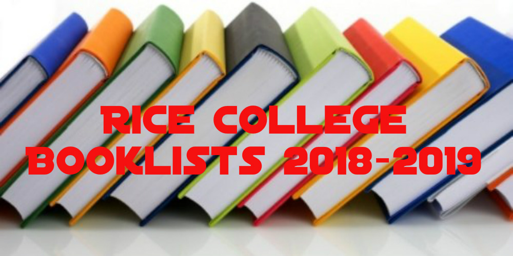 Rice College Booklists 2018-2019