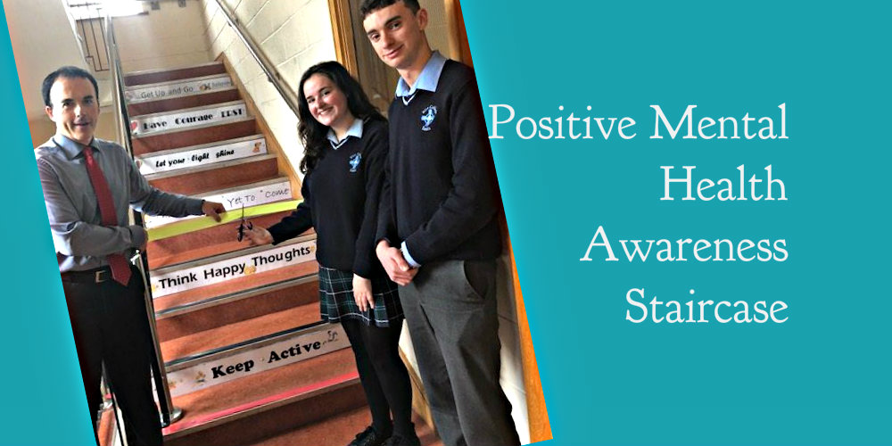 Positive Mental Health Awareness Staircase